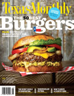 Texas Monthly Burger Cover