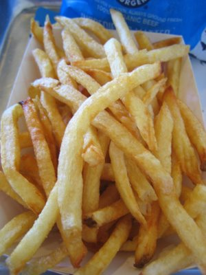 Love their fries, cooked in olive oil