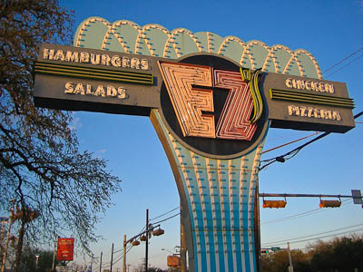 EZ's Austin Sign